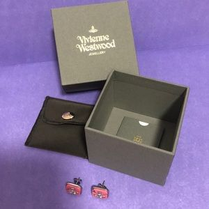 Vivienne Westwood pink marble earrings